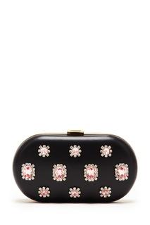 Клатч с розовыми кристаллами Prada
