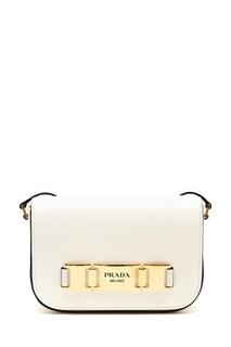 Маленькая белая сумка Prada
