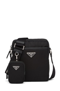 Текстильная сумка со съемным кошельком Prada