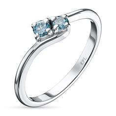 Кольцо из белого золота э0912кц09183400 ЭПЛ Якутские Бриллианты