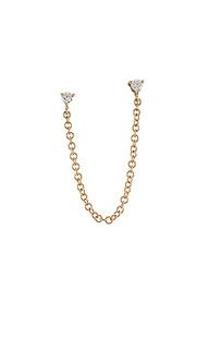 Кольца-гвоздики single double diamond - EF COLLECTION