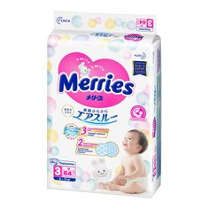 Подгузники Merries Air Through (6-11 кг) шт.