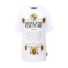 Хлопковая футболка Versace Jeans Couture