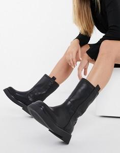 Черные ботинки без застежки на массивной подошве ASOS DESIGN Angelica-Черный