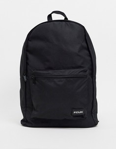 """Черный рюкзак с логотипом """"FCUK"""" French Connection"""