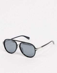 Черные солнцезащитные очки-авиаторыPolariod-Черный Polaroid