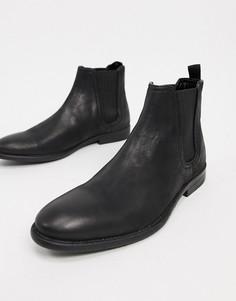 Черные ботинки челси с эффектом поношенности River Island-Черный