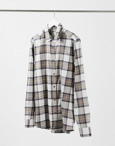 Коричневая рубашка в клетку Topman-Коричневый