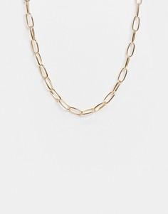 Золотистое ожерелье-цепочка Accessorize-Золотистый