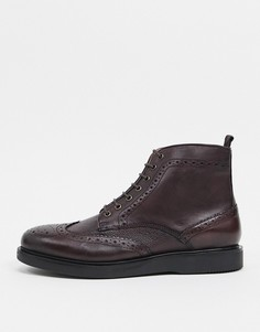 Бордовые ботинки со вставкой на носке H by Hudson leith-Красный