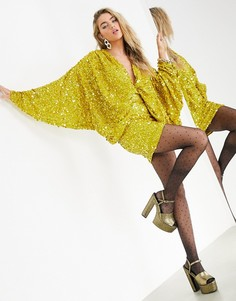 Желтое платьеминис пайеткамиASOS EDITION-Желтый