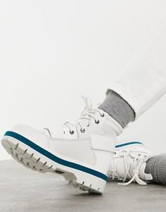 Белые походные ботинки на плоской подошве с ремешками в стиле милитари CAT Mode-Белый Caterpillar