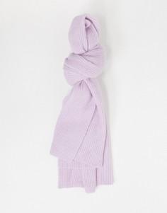 Фиолетовый вязаный шарф Selected Femme