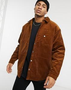 Рыжая вельветовая куртка Topman-Коричневый