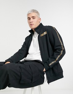 Спортивная куртка черного цвета с золотистой тесьмой от комплекта COORD 1 PUMA-Черный