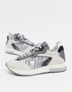 Кроссовки для бега серого цвета ASH Tiger-Серый