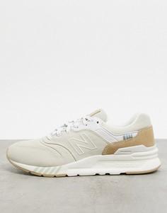 Бежевые с розовым кроссовки New Balance 997H-Кремовый