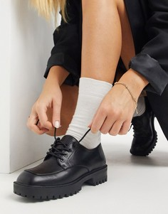 Ботинки на шнуровке с квадратным носком London Rebel-Черный