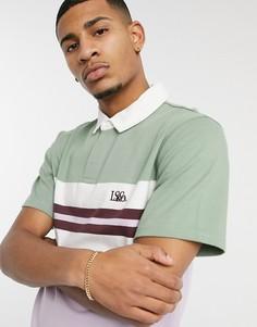 Рубашка-поло в стиле регби в бледно-лиловую полоску с логотипом Levis Authentic-Многоцветный
