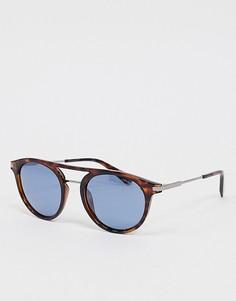 Солнцезащитные очки-авиаторы в черепаховой оправе Polariod-Коричневый Polaroid