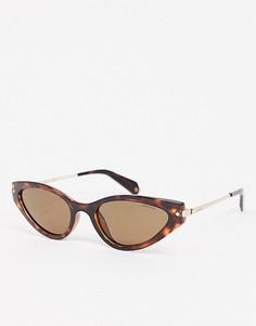 Овальные солнцезащитные очки в черепаховой оправе Polaroid X Love Island-Коричневый