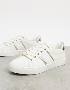 Белые кроссовки с золотистой отделкой ALDO Strelley-Белый