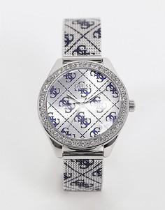 Часы со сплошным логотипом Guess-Серебристый