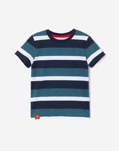 Футболка в разноцветную полоску для мальчика Gloria Jeans