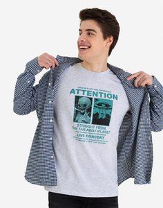 Светло-серая футболка с космическим принтом Gloria Jeans