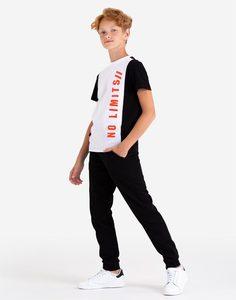 Футболка колор-блок с надписью для мальчика Gloria Jeans