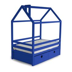 Кровать AS Джина box 80x190 синяя