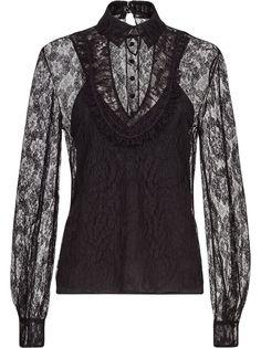 Fendi кружевная блузка на пуговицах
