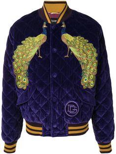 Dolce & Gabbana бархатный бомбер Peacock