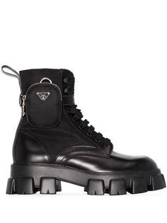 Prada ботинки в стиле милитари