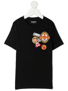 Dsquared2 Kids футболка с нашивками