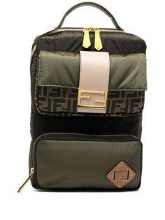 Fendi рюкзак со вставками и узором FF