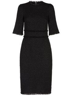 Dolce & Gabbana приталенное твидовое платье