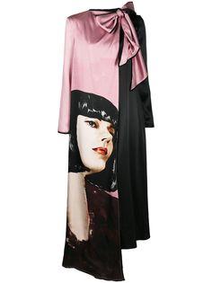 Ports 1961 платье макси с длинными рукавами и принтом