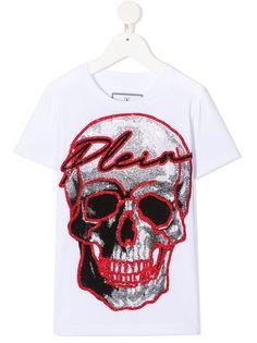 Philipp Plein Junior футболка с логотипом из страз