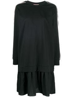 TWINSET платье-толстовка с вышивкой пайетками