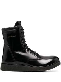 Emporio Armani ботинки в стиле милитари