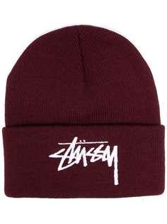 Stussy шапка бини с вышитым логотипом