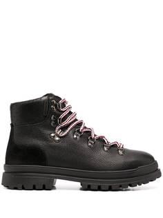 Moncler ботинки с контрастными шнурками