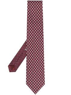 Salvatore Ferragamo галстук с принтом