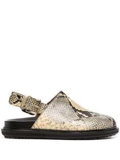 Marni туфли-лодочки с тиснением под кожу змеи
