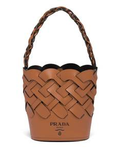 Prada плетеная сумка-ведро