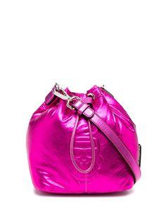 Karl Lagerfeld сумка-ведро K/Ikonik с эффектом металлик
