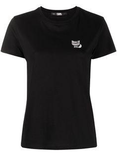 Karl Lagerfeld футболка Ikonik Choupette с нашивкой