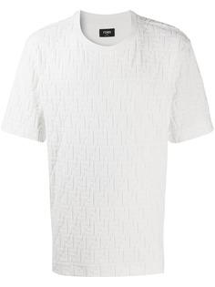 Fendi футболка с тисненым логотипом