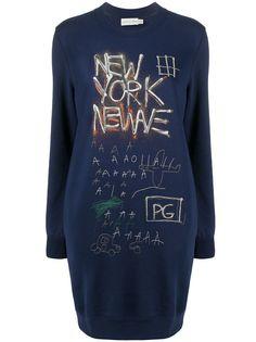Coach платье-толстовка Basquiat